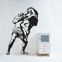 Muay thai Boxing Vinyl Wall Art Decal