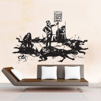 Banksy Luxury Loft Vinyl Wall Art Decal