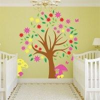 Autumn Tree Colorful Kids Vinyl Wall Art Decal