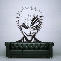 Bleach Ichigo Kurosaki with Hollow Mask Vinyl Wall Art Decal