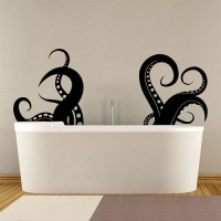 Large Octopus Tentacles V.3 Vinyl Wall Art Decal
