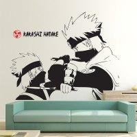 Hatake Kakashi Kid Vs Adult in Naruto Vinyl Wall Art Decal