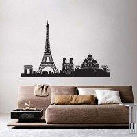 Paris City Skyline Vinyl Wall Art Decal