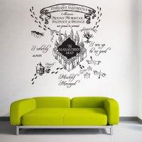 The marauder's Map Harry Potter v1 Vinyl Wall Art Decal