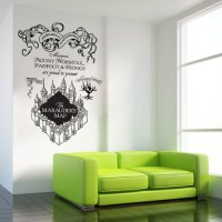 The marauder's Map Harry Potter v2 Vinyl Wall Art Decal