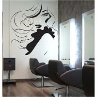 Face girl hair Beauty Salon Vinyl Wall Art Decal