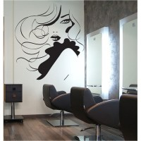 Face girl hair Beauty Salon Vinyl Wall Art Decal