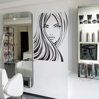 Girl Face Beauty Hair Salon Vinyl Wall Art Decal