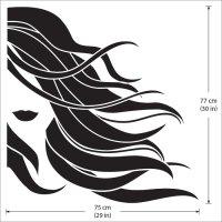 Girl face beauty hair salon Vinyl Wall Art Decal