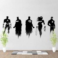 Justice League Super Heroes V1 Vinyl Wall Art Decal