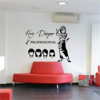 Hair Cut Hair Design Beauty Salon Vinyl Wall Art Decal