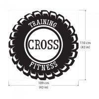 Training Cross Fitness Sport Gym Vinyl Wall Art Decal