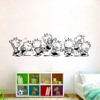 Calvin and Hobbes Dancing Vinyl Wall Art Decal