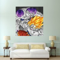 Dragon Ball Z Goku vs Frieza Block Giant Wall Art Poster
