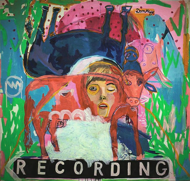 Recording, 169 x 160 cm, Oil on canvas, 2016, Image courtesy of Ugo LI