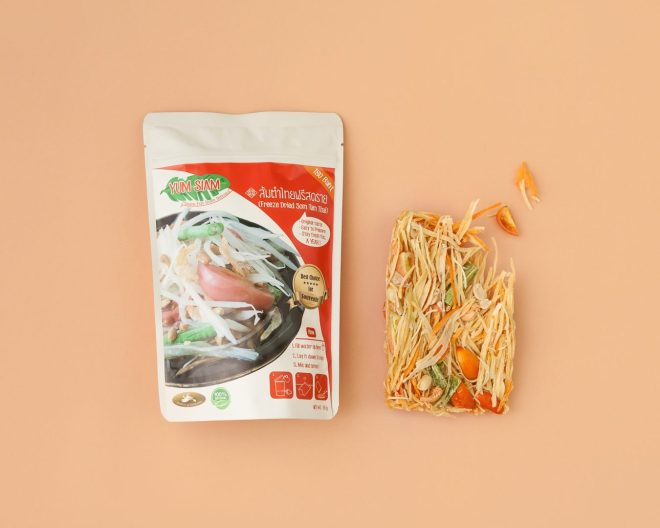 Vacuum Freeze Dried Papaya Salad, Yum Siam, Photo by Ketsiree Wongwan