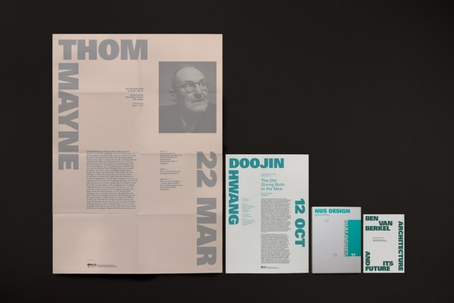 NUS Architecture, visual identity and publication, Image courtesy of Do Not Design