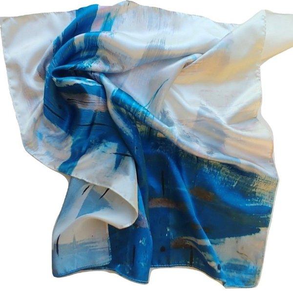 fashion scarf aqua 1