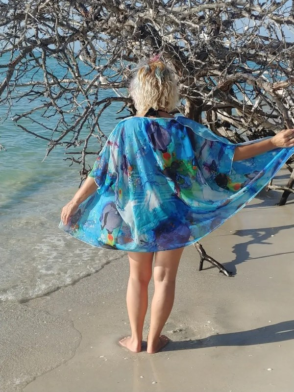 cover-up happiness in turquoise