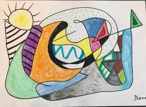 atelier dessin intuitif avec Gali galerie art 52 royan