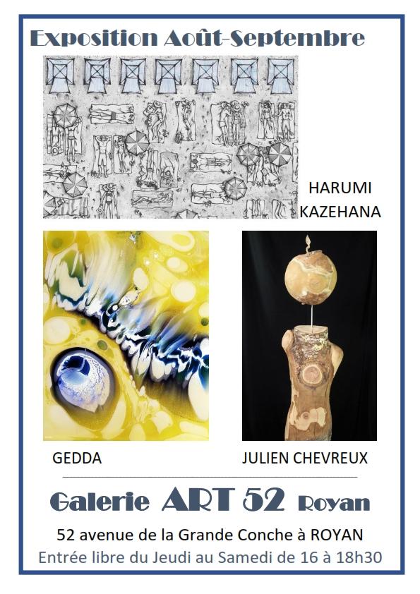 Exposition Harumi Gedda Julien Chevreux Galerie ART 52 ROYAN