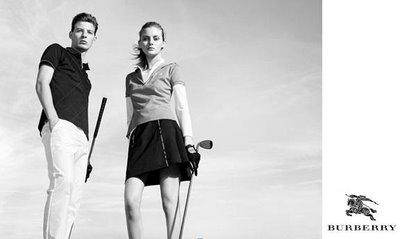 Albert Krarup and Kori Richardson for Burberry Golf Fall 2009