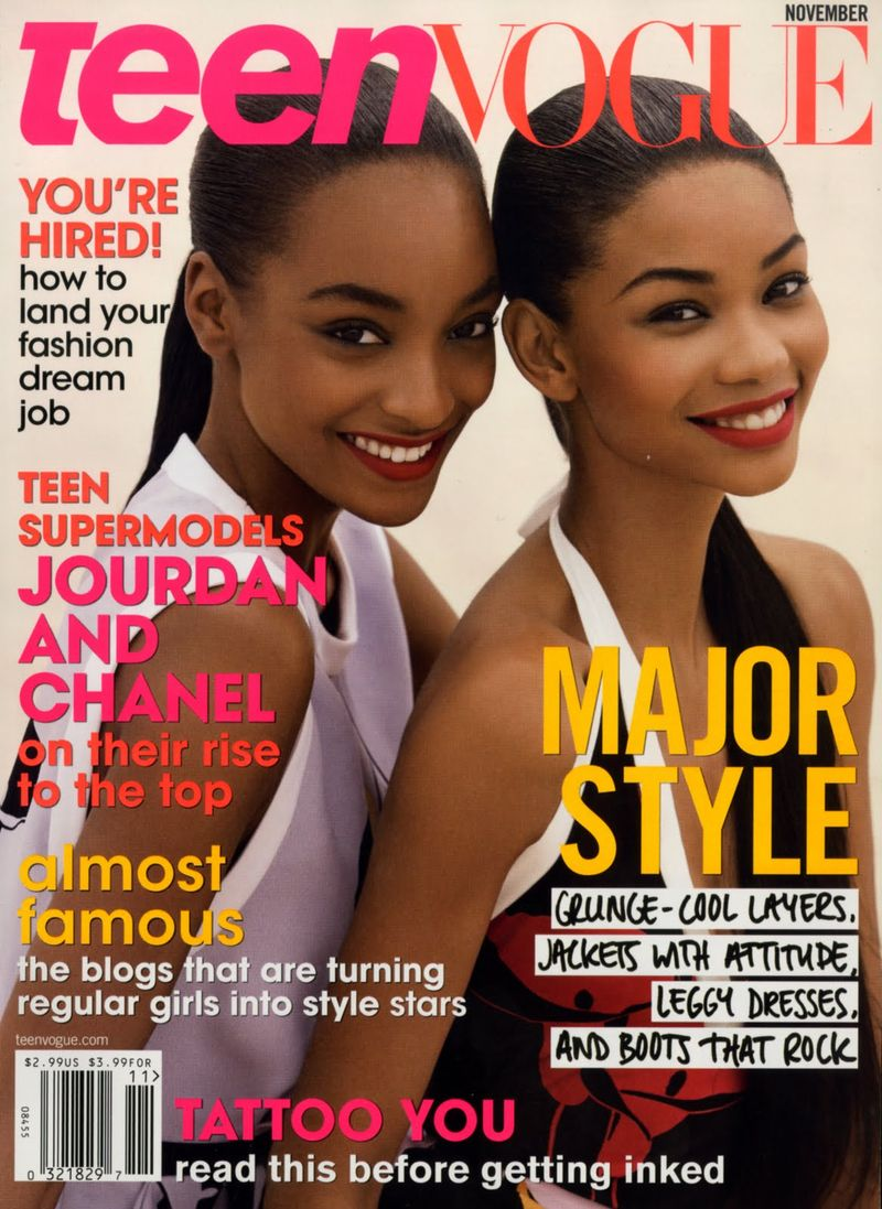 Jourdan Dunn & Chanel Iman by Patrick Demarchelier