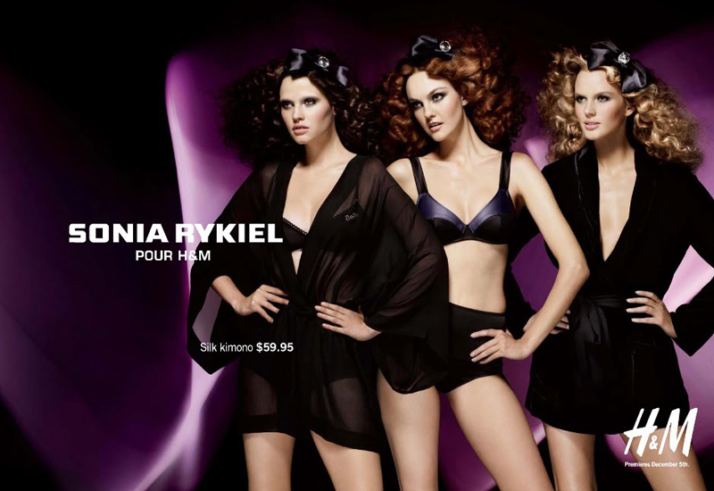 LAra, Caroline & Anne Vyalitsyna for Sonia Rykiel for H&M