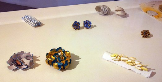 Jacqueline Ryan sketches, models, and jewelry at Antonella Villanova in Florence