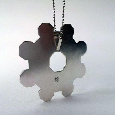 Back of Castel del Monte pendant (art925)