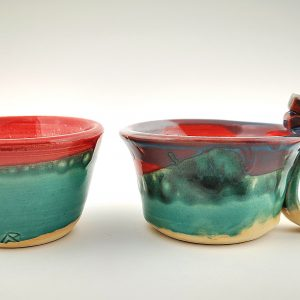 Ceramic cup and shugar pot set AAP83