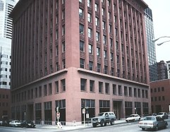 a building with ceramic veneer terracotta