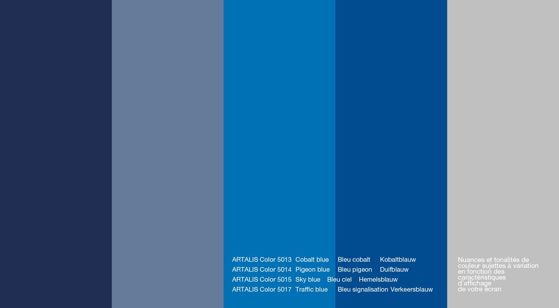 Artalis Color Chart