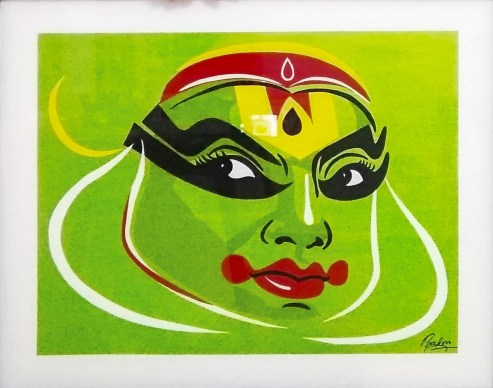 Reverse Glass painting-Traditional art