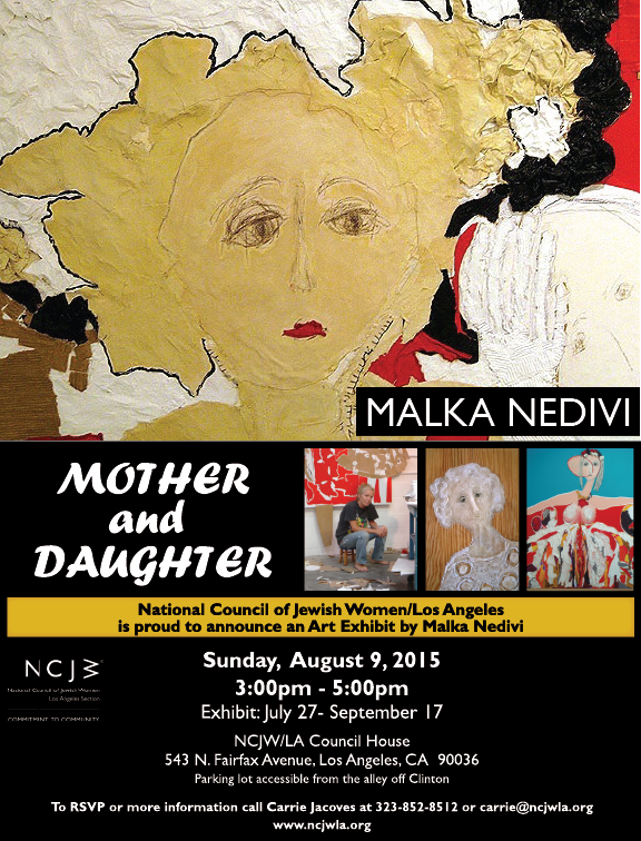 Malka-Nedivi-Art-Exhibit--July-27-2015--FLYER-with-Malka-name