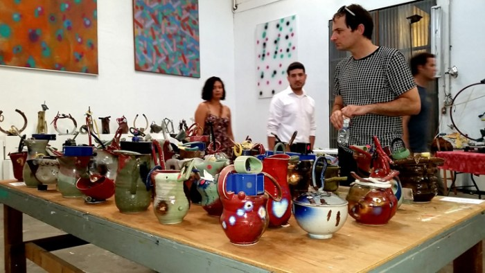 Michael Todd Studios held a ceramic sale to benefit Zebulon, a Café & Performance space opening soon. (Photo credit Patrick Quinn)