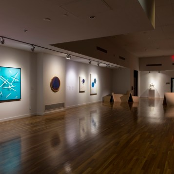Installation view of the exhibition, SECOND WAVE. Works shown by Ryan Perez, Chet Glaze, Brian Bress and Conrad Ruiz (SECOND WAVE) Photographs by Nikolay Maslov. Courtesy of UCR ARTSblock.