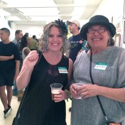 Kristine Augustyn and Linda Sue Price. Final MAS Attack at the Torrance Art Museum. Photo Credit Diane Williams