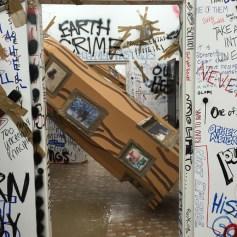 Thomas Hirschhorn at The Mistake Room. Photo Credit Lorraine Heitzman