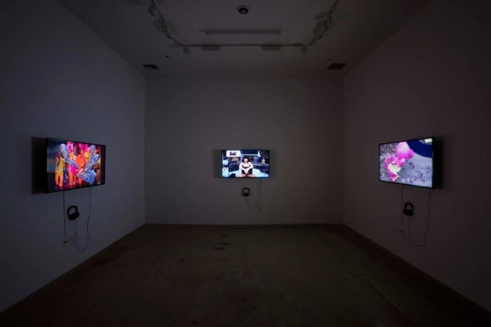 "Jacob Ciocci, Lu Yang, Bogosi Sekhukhuni and Eric Wedgewood's ""Full Disclosure"" at Steve Turner Gallery Photo Courtesy of Steve Turner Gallery"