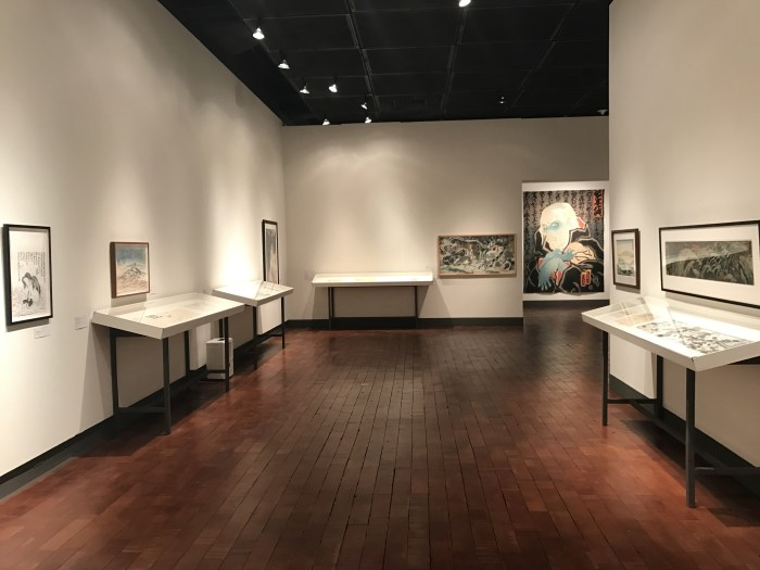 Floating Realities: The Art of Dr. Masami Teraoka at The Begovich Gallery at CSU Fullerton. Photo Credit Sara Fortson.