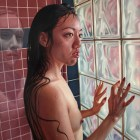 Alex Gross, The Tenant, Corey Helford Gallery Photo credit- JulieFaith ©2017, All rights reserved.