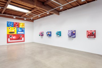 Kenny Scharf, BLOX and BAX. Honor Fraser Gallery. Photo Joshua White/JWPictures.com. Courtesy Honor Fraser Gallery.