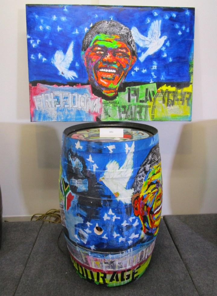 Botart International Barrel Art Exhibition- Jabu. Fabrik Expo. Photo Credit Patrick Quinn.