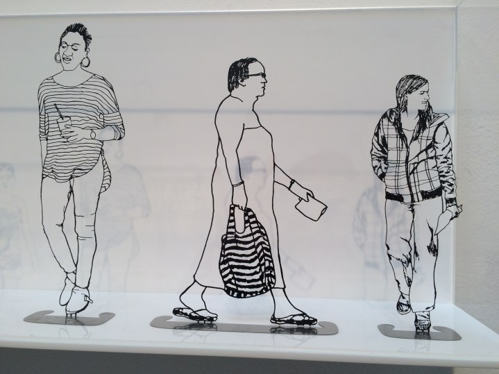 Zadok Ben-David: People I Saw but Never Met. Shoshana Wayne Gallery. Photo Credit Jody Zellen.