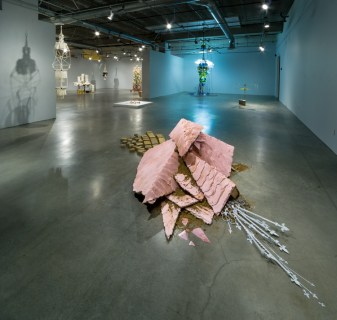 Installation View. Pasadena Museum of California Art. Interstitial. Photo Courtesy of PMCA. Photo Credit Don Milici.