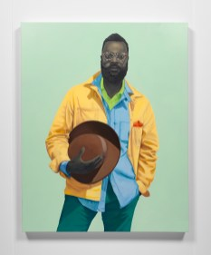 Amy Sherald. Face to Face: Los Angeles Collects Portraiture. Photo Courtesy of the California African American Museum.