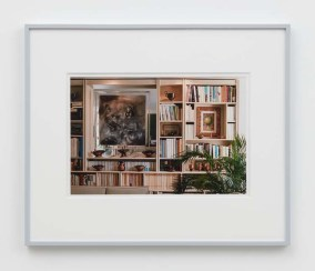 """William E. Jones """"Villa Iolas (Matta, René Magritte, Greek Vases),"""" 1982/2017 hand-coated inkjet print 16 x 20 inches (40.6 x 50.8 cm) framed: 20 x 24 x 1 1/2 inches (50.8 x 61 x 3.8 cm) Edition of 6 with 2 AP Photography: Lee Thompson Courtesy of David Kordansky Gallery, Los Angeles, CA and The Modern Institute, Glasgow, Scotland"""