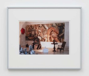 """William E. Jones """"Villa Iolas (Paul Thek, Lucio Fontana, Takis, Harold Stevenson, René Magritte, Egyptian Sculpture),"""" 1982/2017 hand-coated inkjet print 16 x 20 inches (40.6 x 50.8 cm) framed: 20 x 24 x 1 1/2 inches (50.8 x 61 x 3.8 cm) Edition of 6 with 2 AP Photography: Lee Thompson Courtesy of David Kordansky Gallery, Los Angeles, CA and The Modern Institute, Glasgow, Scotland"""