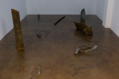 Destroyed tools. Zarouhie Abdalian. Photo Courtesy of LAXART